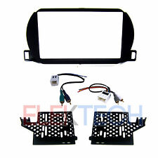 Radio Replacement Dash Mount Kit 2-DIN & Amp Integration Harness for Nissan
