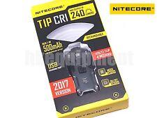 NiteCore TIP 2017 CRI Nichia USB Rechargeable Pocket Keychain Flashlight Grey