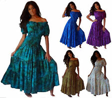 Women's Dress Bohemian style-Mexican tiered skirt-Plus Sizes LotusTraders U736