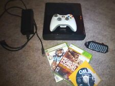 Microsoft Xbox 360 E Black Console Bundle With Controller, Games and Chat pad