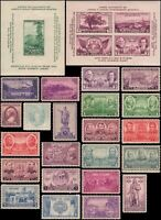 US #776-802 MH 1936-1937 commemorative year set of 27 stamps