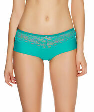 XS 8 S 10 M 12 Freya 3536 Rio Short Lace Knickers Briefs Jade Green Crimson Red M