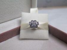 New w/Box & Tag Pandora Paw Prints Sterling Silver w/CZ Charm #791714CZ Dog Cat