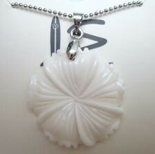 "Hawaiian Buffalo Bone Pendant w/ 18kgp Metal Ball Chain Necklace 18"" # 50062"