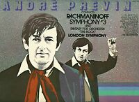 RACHMANINOFF SYMPHONY NO.3 FANTASY FOR ORCHESTRA THE ROCK PREVIN LONDON LP L7260