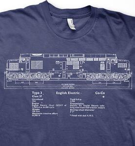 Class 37 diesel model railways trains BR t shirt