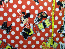 DISNEY MINNIE MOUSE LOVES TO SHOP POLKA DOT TOSS  FLEECE FABRIC 1.5 YARDS