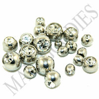 V049 Replacement Piercing Balls Clear Lip Eyebrow Nipple 16G 2.5 3 4 5 6 mm