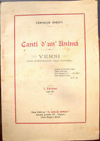 1924 POESIE DI CORNELIO ONESTI SCRITTE A BOLOGNA SARDEGNA PRIMA EDIZIONE RARA