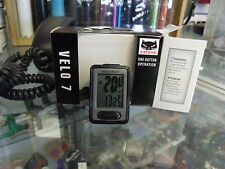 CATEYE VELO 7--CC-VL520 BLACK BICYCLE SPEEDOMETER COMPUTER