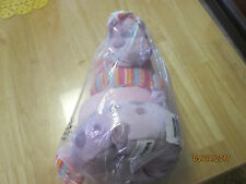 Kellybaby by Kelly Toy plush 6 piece baby giraffe stacker rings pink purple toy