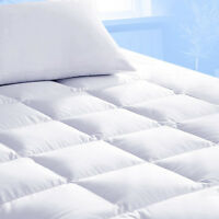 Mattress Topper Protector Bed Pad Cover Hypoallergenic Pillow Top Soft Thick 2''