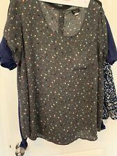 Torrid dark gray size 2 18/20 blouse multicolor arrow pattern