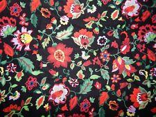 black red floral cotton quilt fabric Jasmine Pamela Mostek half yard vine brite