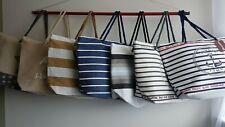 Ladies Canvas / Straw Beach Shoulder Bag Summer Holiday Tote Shopping Handbag