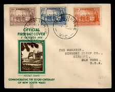 Dr Who 1937 Australia Fdc Nsw Sesquicentenary C219584