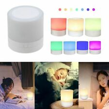 7 Colors Bedside Table Lamp Dimmable Touch Sensor Rechargeable LED Night Light