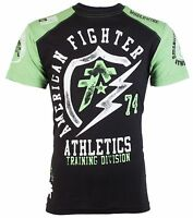 AMERICAN FIGHTER Mens T-Shirt FLASHPOINT Athletic BLACK GREEN Biker Gym $40