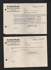 DESSAU, Rechnung 1961, W. Gödel Nachf. Lebensmittel-Grosshandlung