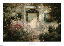 Doorway and Garden by Abbott Fuller Graves Art Print Floral Roses Poster 32x27