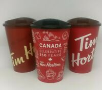 Tim Hortons Canada Travel 12oz Coffee Cups Gift Set of 3 Washable Plastic