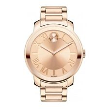 Movado 3600199 Bold All Rose Gold Stainless Steel Swiss Unisex 39MM BRAND NEW