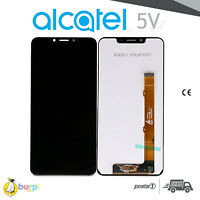 DISPLAY ALCATEL 5V 5060D TOUCH SCREEN LCD VETRO NERO BLACK SCHERMO