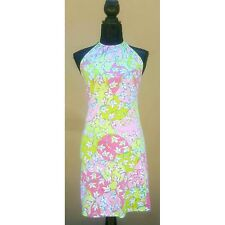 OFFERS WELCOME Emilio Pucci Flower Abstract Halter Mini Dress Italy Size 6 Italy