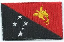 Papua New Guinea Flag Embroidered Patch Iron-on Good Luck Magic Charm