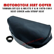 YAMAHA DT125 G  MX175 F G H 1979-1981 SEAT COVER with STRAP SEAT