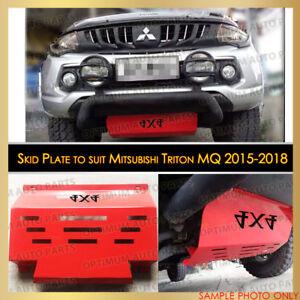 RED Bash Skid Plate Guard Engine Protector for Mitsubishi Triton MQ 2015-2018
