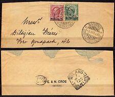 172 - Uffici postali all'estero, Smirne - Frammento, 03/10/1908