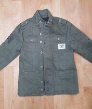Guess Kids Boy's M (5/6) Denium Army Green Bomber Coat Jacket EUC
