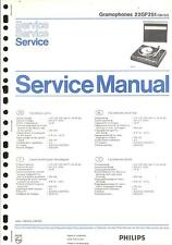 Philips original service manual pour phono 22 GF 251
