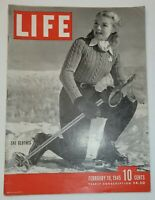 February 19, 1945 LIFE Magazine WWII War 1940s advertising ads FREE SHIP Feb 2