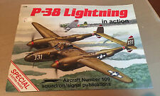 SQUADRON SIGNAL PUBLICATIONS 1109 AIRCRAFT 109 P-38 LIGHTNING in action SPECIAL