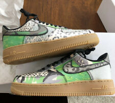 Nike Air Force One '07 QS CITY OF DREAMS Black/Green Spark/Gum US 8 - UK 7