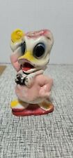 VINTAGE CHALKWARE RED HAT DONALD DUCK CARNIVAL PRIZE FIGURINE STATUE