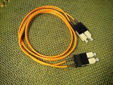 1M SC-SC Fiber Optic Cable M/M Duplex SC to SC NEW!