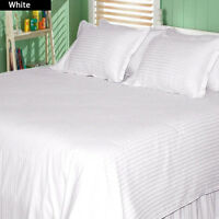 Hotel Qualty Bedding Items 1000tc Egyptian Cotton Select Item&Size White Striped