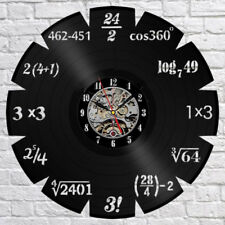 Math Themes Vinyl Record Wall Clock Home Decor The Best Original Gift 12inch30cm