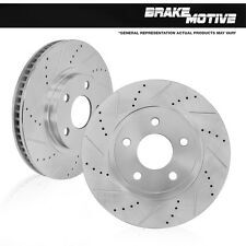 FRONT DRILLED AND SLOTTED PLATED BRAKE ROTORS VW Volkswagen Beetle Golf Jetta