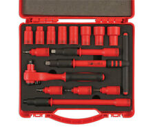 1000v ELECTRICAL INSULATED VDE CERTIFICATED 3/8 DRIVE SOCKET RATCHET TOOL SET