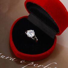 18k White Gold filled Ancient/Royal Women's Ring with Zircon Stone - Size 6US