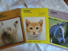 CATKIN THE CURIOUS KITTEN / DARBY THE DONKEY/ A BATH FOR BISCUIT ~ 3 VINTAGE SC
