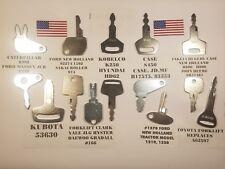 (14) Heavy Equipment Keys Construction Key Excavator, Forklift, Tractor,Toyota,.