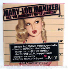 The Balm MARY LOU Manizer Highlighter Face ❤ Eyes powder Shimmer Shadow 0.3oz