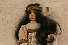 Cathay Collection Porcelain Doll Native American - Excellent Condition!