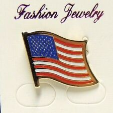 White & Blue Flag Usa 4th of July American Flag Pin Brooch - Lapel Pin - Red