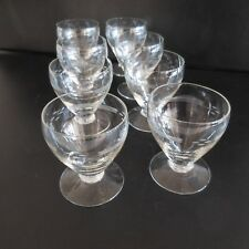 8 verres liqueur alcool cristal art-déco signature fait main PN France